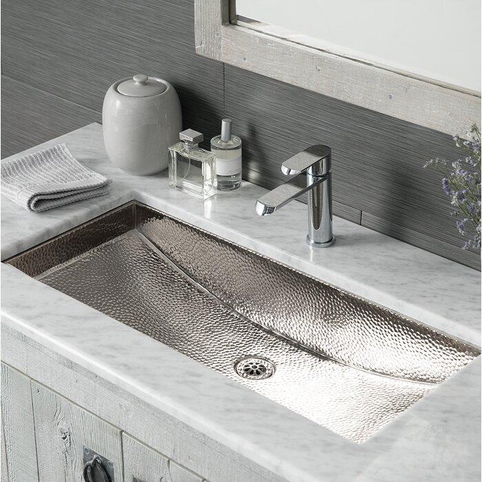 Small Rectangular Undermount Bathroom Sink   Trough Metal Rectangular Undermount Bathroom Sink