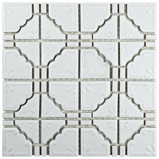 Moonlight Porcelain Mosaic Tile in Matte White