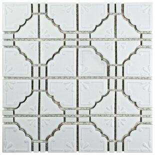 Moonlight Porcelain Mosaic Tile in Matte White