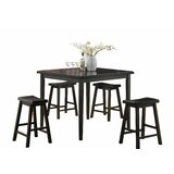 Wilmoth 5 Piece Counter Height Dining Set by Winston Porter