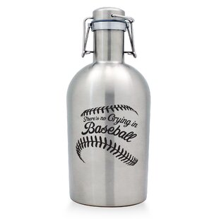 No Crying in Baseball Stainless Steel Growler