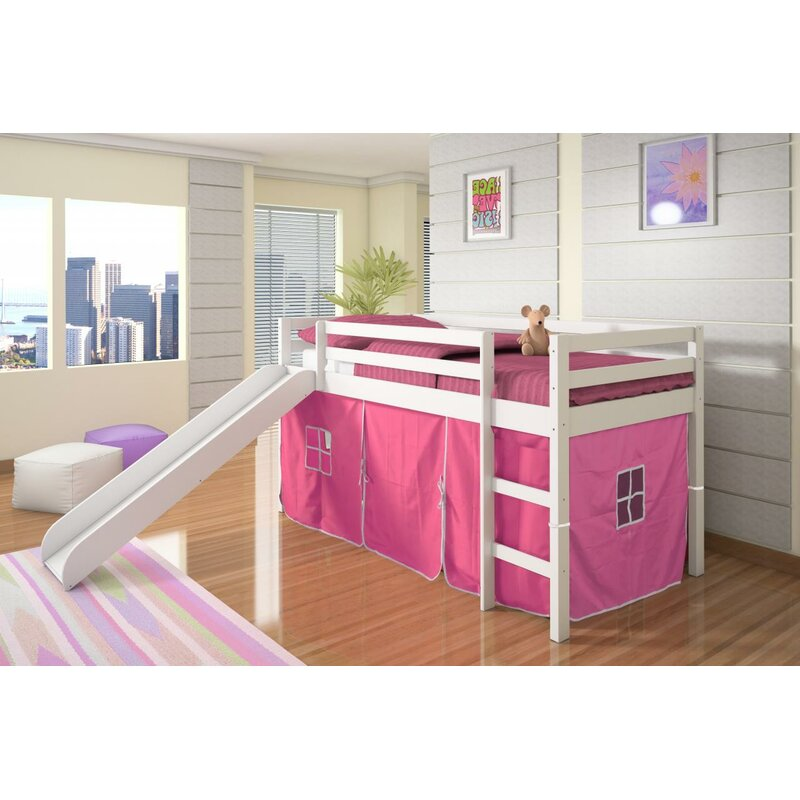 Ogden Tent Twin Low Loft Bed with Slide  sc 1 st  Wayfair & Harriet Bee Ogden Tent Twin Low Loft Bed with Slide u0026 Reviews | Wayfair
