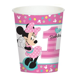 Disney Minnie Mouse 1st Birthday Paper Disposable Cup