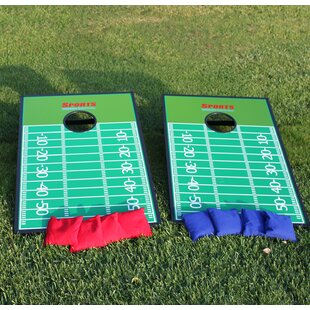 2' x 4' Football Court Plastic Cornhole Board with Carrying Case