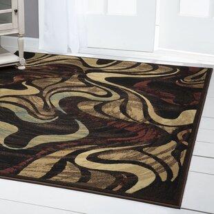 Brinegar Black/Brown Area Rug by Ebern Designs