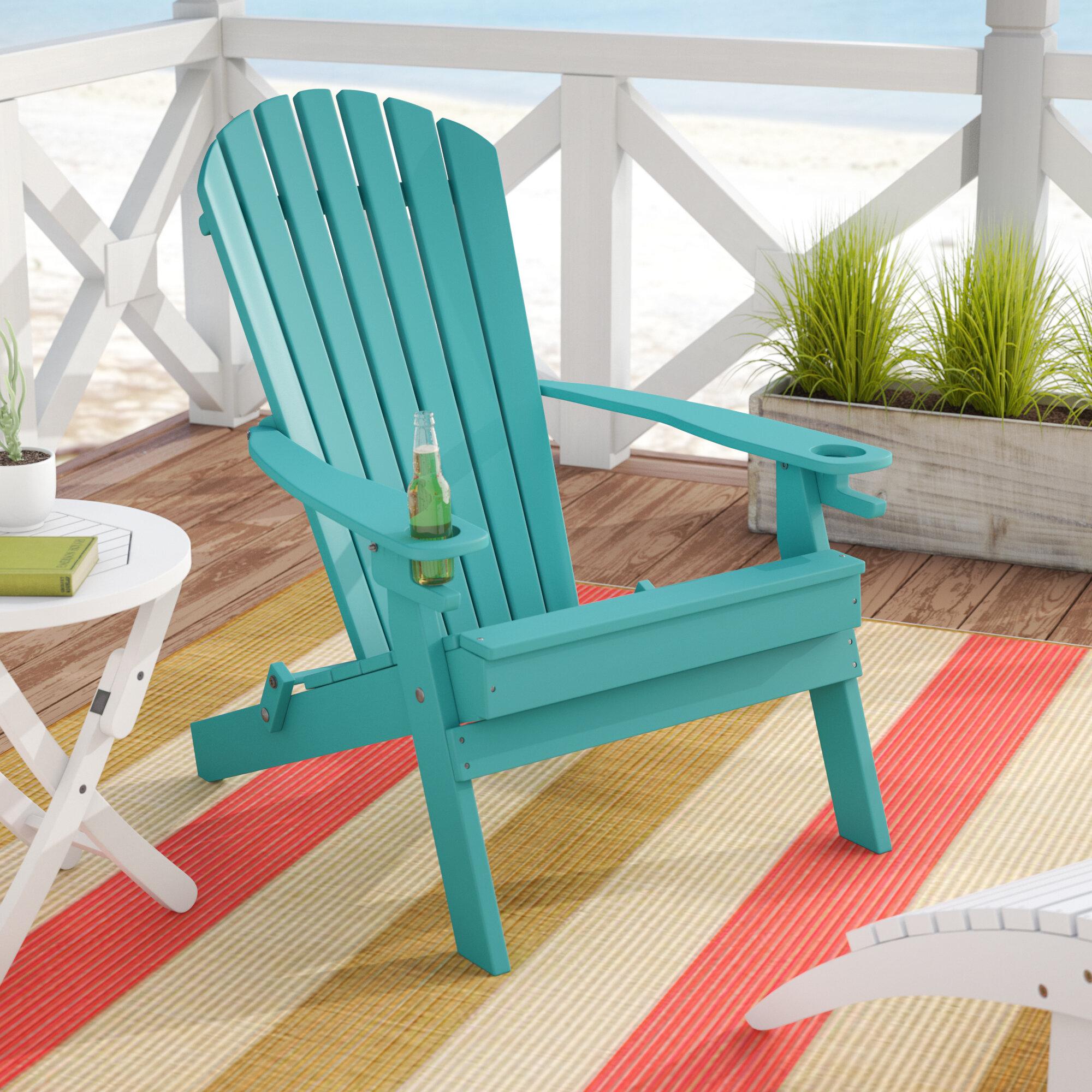 Picture of: Beachcrest Home Aryana Plastic Resin Folding Adirondack Chair Reviews Wayfair
