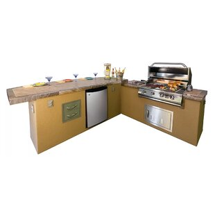 wood outdoor kitchen grill caribbean bbq island outdoor kitchen 4burner builtin convertible gas grill kitchens youll love wayfair