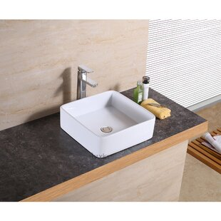 Great Price Vanity Art Basin Ceramic Square Vessel Bathroom Sink By Luxier