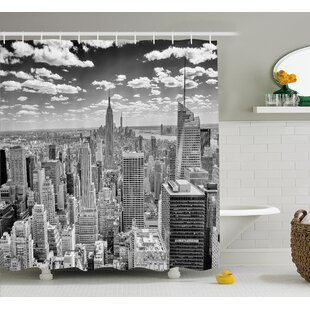 Brunelle Manhattan Urban Scenery Single Shower Curtain