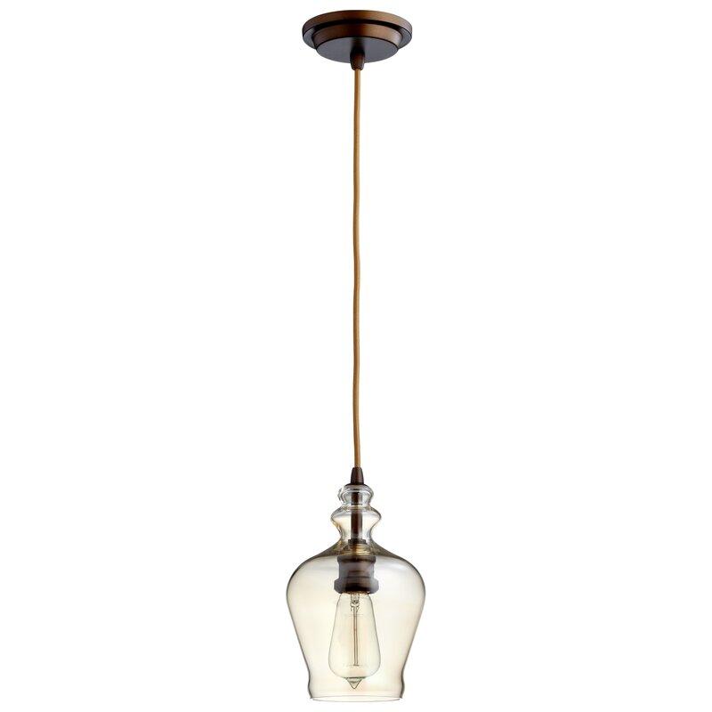 Cyan Design Calista 1 Light Single Bell Pendant Wayfair