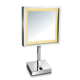 Reviews Kennerson Freestanding LED Makeup/Shaving Mirror By Symple Stuff