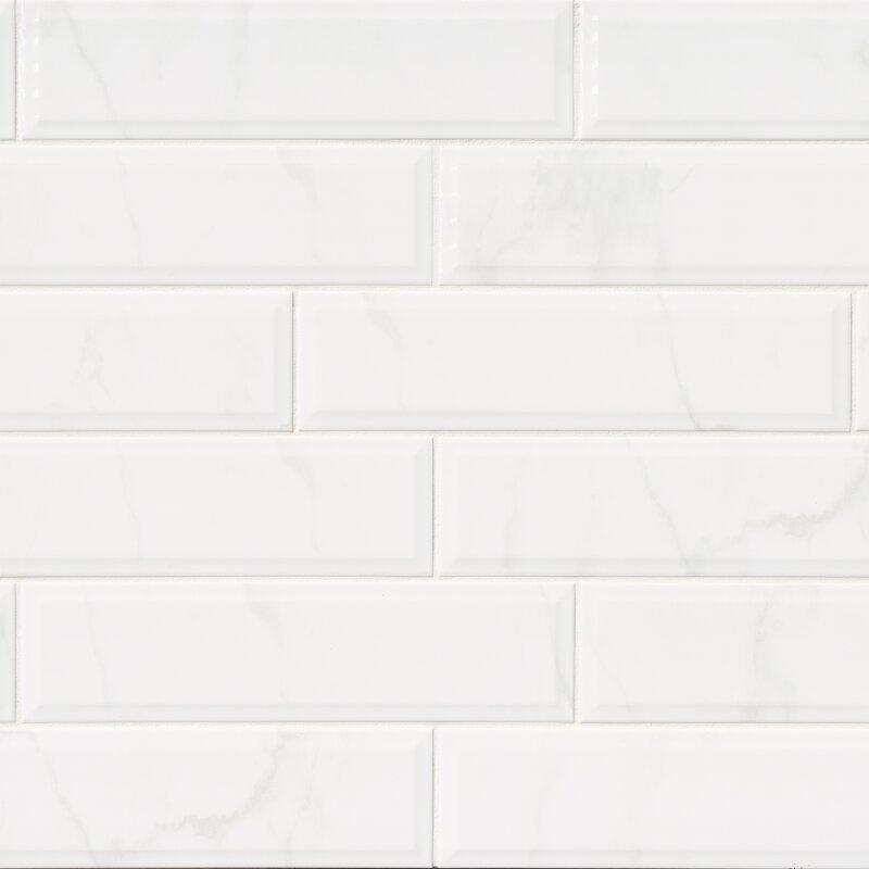 Msi classique carrara 4 x 16 ceramic tile in white reviews wayfair classique carrara 4 x 16 ceramic tile ppazfo