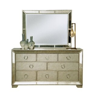 Halstead 8 Drawer Dresser With Mirror by House of Hampton Great price