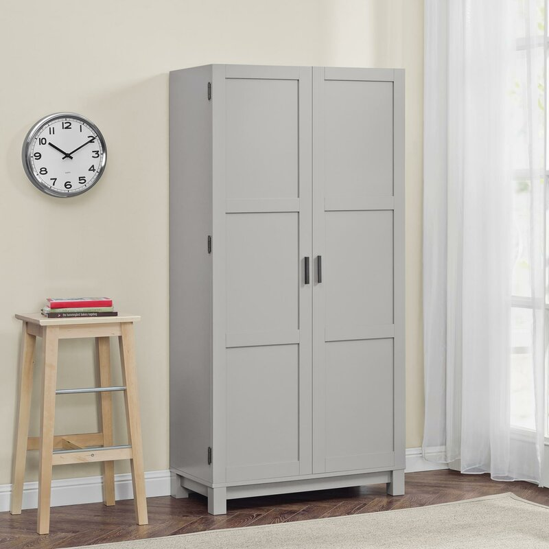 Lovely Behind Door Storage Cabinet with Full Length Mirror