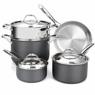 Cooks Standard Multi-Ply Clad Hard Anodized 8-Piece Cookware Set