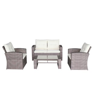 Latshaw 4 Piece Sofa Set with Cushions