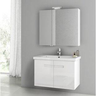 New York 34 Wall-Mounted Single Bathroom Vanity Set By ACF Bathroom Vanities