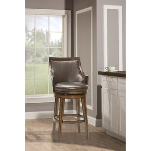 Blackburn Swivel Bar Stool Millwood Pines