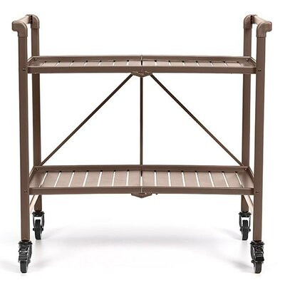 Greenbush Bar Cart Frame Color: Sandy Brown by Beachcrest Home
