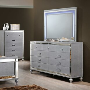 Regents 9 Drawer Double Dresser with Mirror by Willa Arlo Interiors