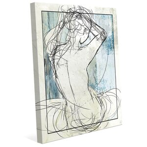 'Woman on Sky' Graphic Art on Wrapped Canvas