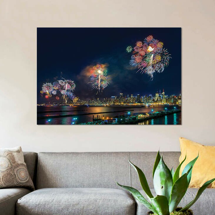 'Celebration of Independence Day in NYC' Graphic Art Print