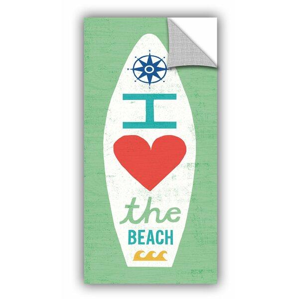 Bay Isle Home Stoll Beach Bums Surf Board Ii Removable Wall Decal Wayfair