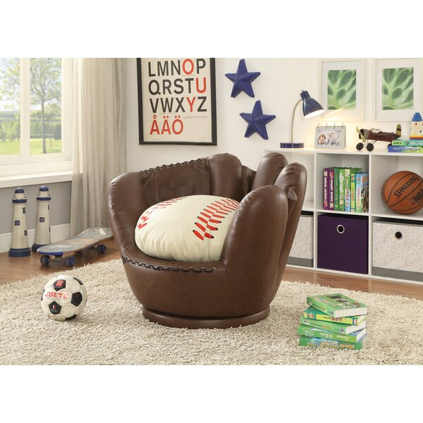 Merveilleux Crown Mark Baseball Glove Kids Faux Leather Chair | Wayfair