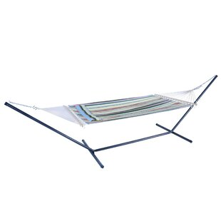 Henriette Stylish Printing Beach Swing Double Tree Hammock by Highland Dunes Today Only Sale