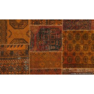Dominguez Handmade Kilim Wool Orange/Brown Rug by World Menagerie