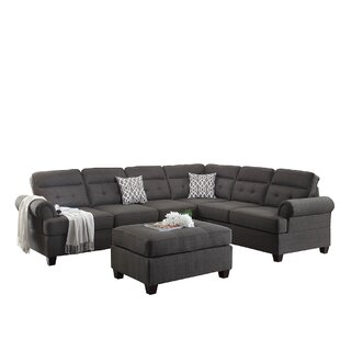 Bobkona Oliver Reversible Sectional by Poundex Amazing