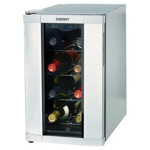 8 Bottle Reserve Series Single Zone Freestanding Wine Cooler by Cuisinart