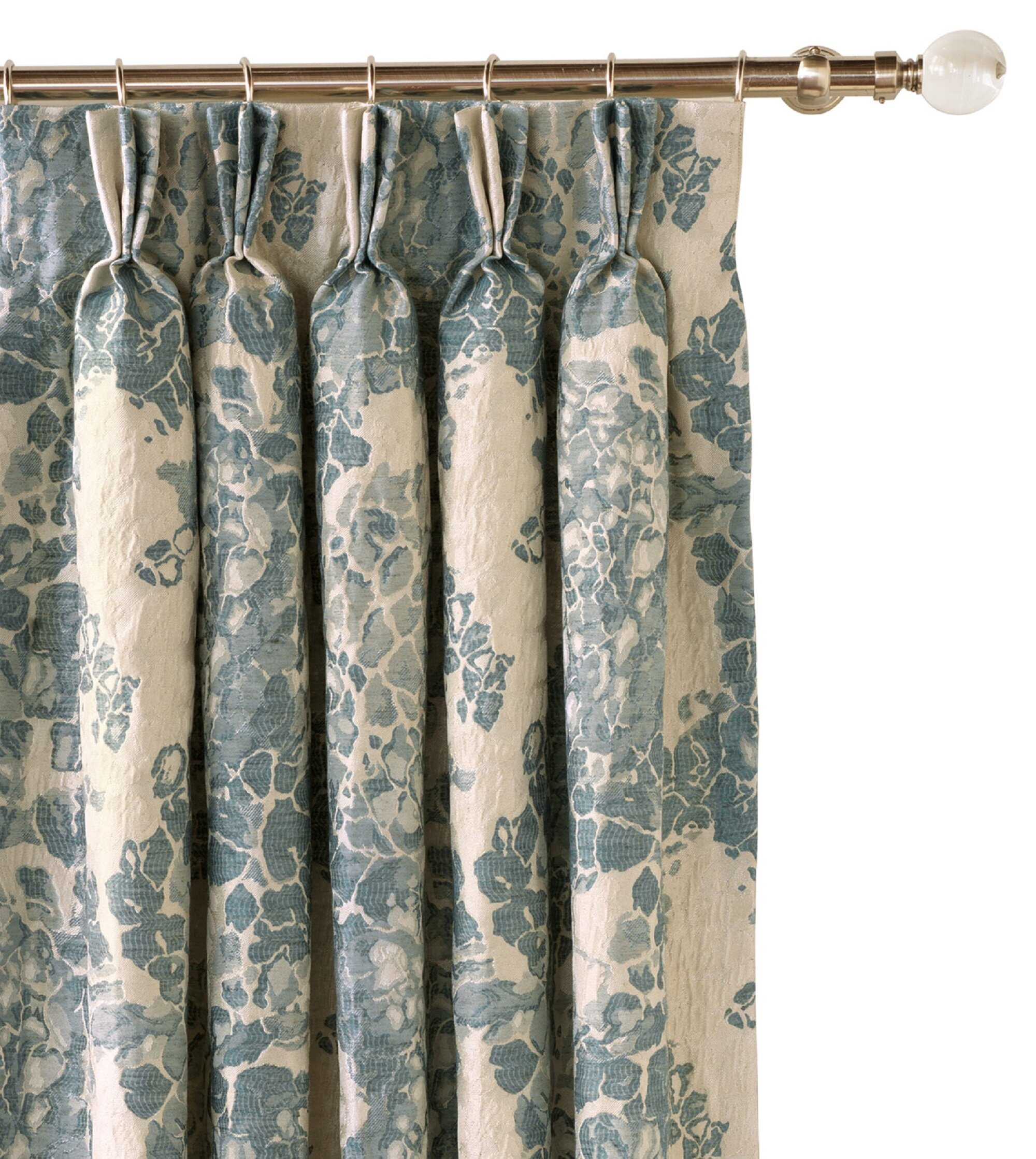Eastern Accents Luna Floral Room Darkening Pinch Pleat Single Curtain Panel Wayfair Ca