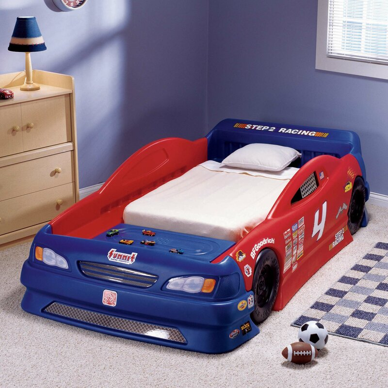 Childrens furniture stock twin car bed