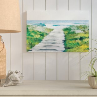 U0027Beach Path Coastal Landscapeu0027 Acrylic Painting Print On Canvas