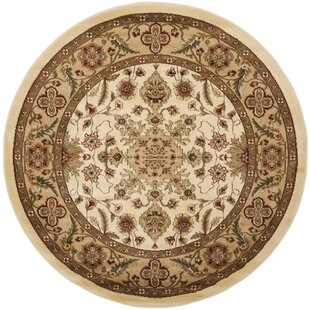 Ottis Ivory/Tan Area Rug by Charlton Home