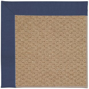 Lisle Machine Tufted Brown and Beige Indoor/Outdoor Area Rug