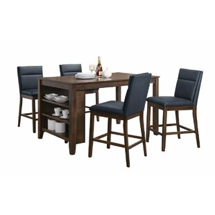 Lawhon 5 Piece Counter Height Pub Table Set