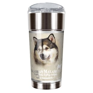 Howard Robinson's Alaskan Malamute 24 oz. Stainless Steel Travel Tumbler