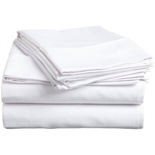 Patric 300 Thread Count Solid Color 100% Egyptian-Quality Cotton Sheet Set