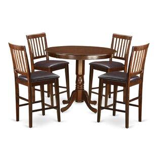 Trenton 5 Piece Pub Table Set Wooden Importers