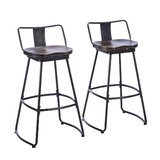 Prine Swivel Counter & Bar Stool (Set of 2) by 17 Stories