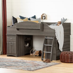 Imagine Twin Low Loft Bed with Drawers