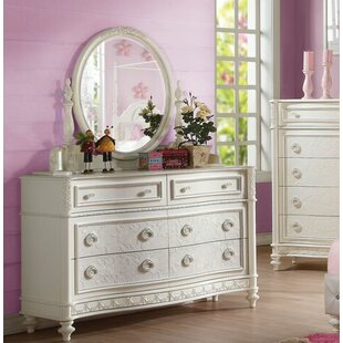Ector 6 Drawer Double Dresser with Mirror