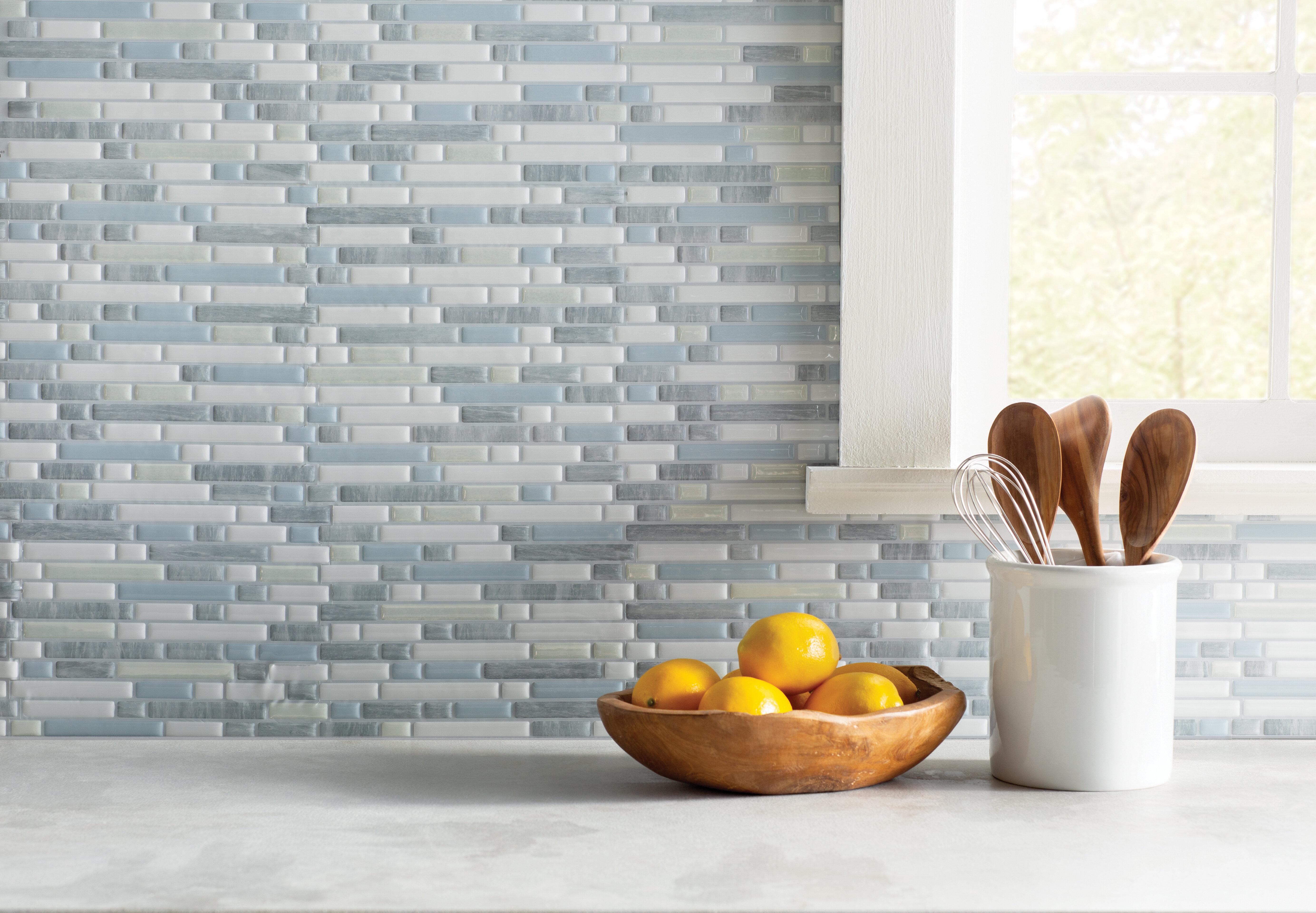 Smart Tiles Bellagio 10 X 10 Gel Peel Stick Mosaic Tile Reviews Wayfair