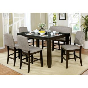 Len 6 Piece Drop Leaf Breakfast Nook Dining Set