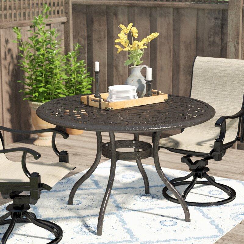 Usrey Outdoor Aluminum Dining Table
