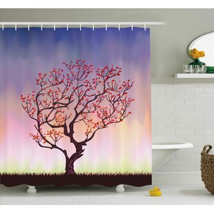 Sunset Rise Shower Curtain + Hooks