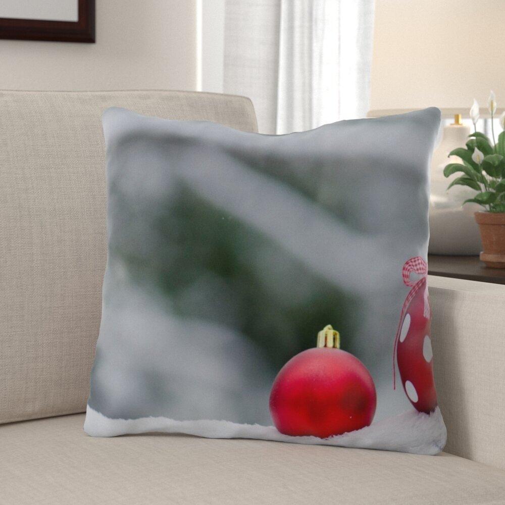 The Holiday Aisle Purdue Winter Indoor Outdoor Canvas Throw Pillow Wayfair