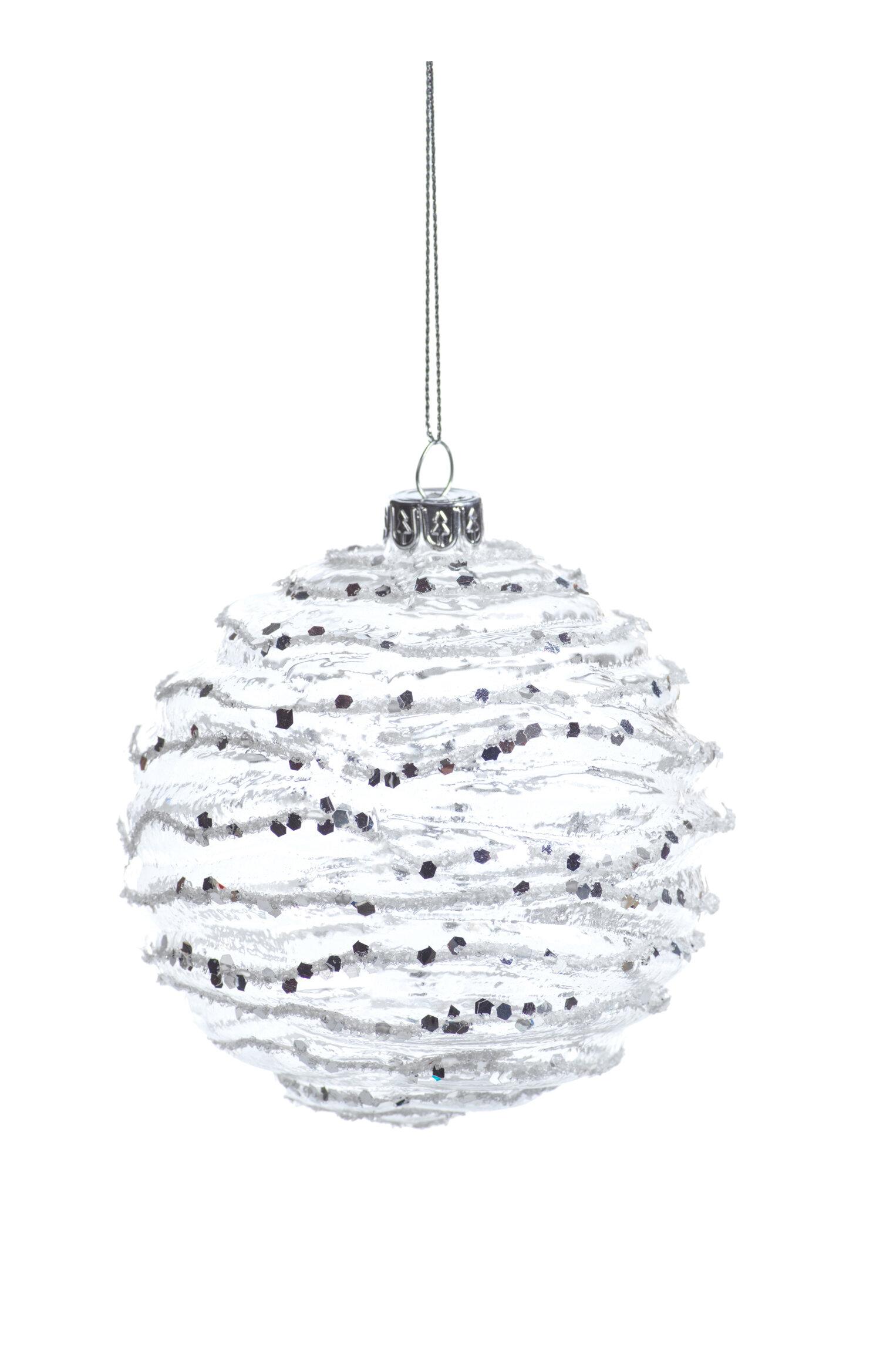 The Holiday Aisle Wave Ball Ornament Wayfair